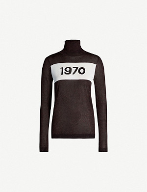 BELLA FREUD 1970 turtleneck jersey top