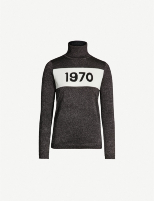 BELLA FREUD 1970 metallic wool-blend turtleneck jumper