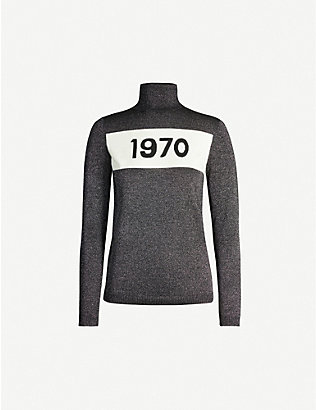 BELLA FREUD: 1970 metallic turtleneck jersey top