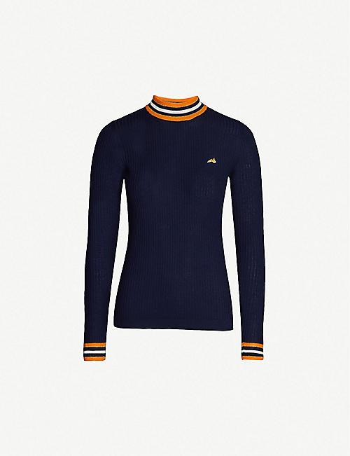ff00ba02219 BELLA FREUD Race Track wool jumper