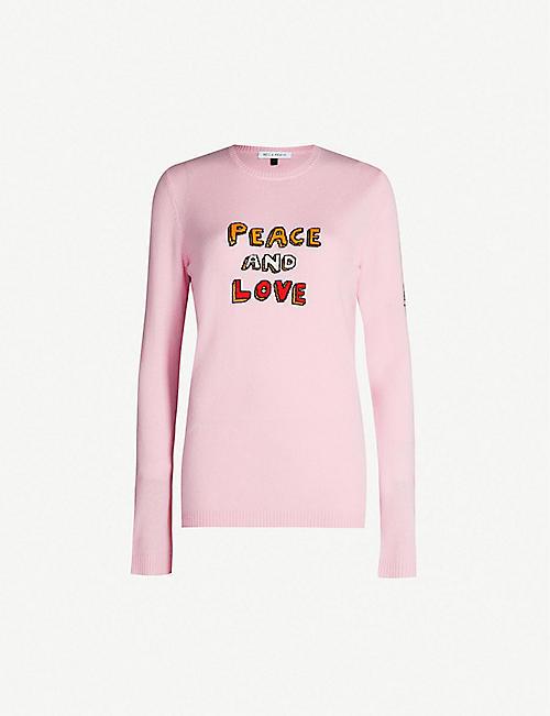 3f08b56ea15 BELLA FREUD Peace and Love cashmere-blend jumper