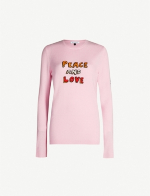 BELLA FREUD Peace and Love cashmere-blend jumper