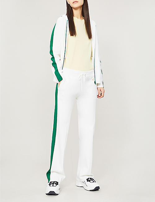 BELLA FREUD Missy contrast-trim zipped stretch-knit hoody