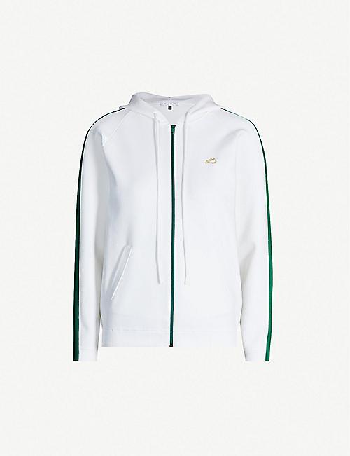 0f9c08e08735 BELLA FREUD Missy contrast-trim zipped stretch-knit hoody