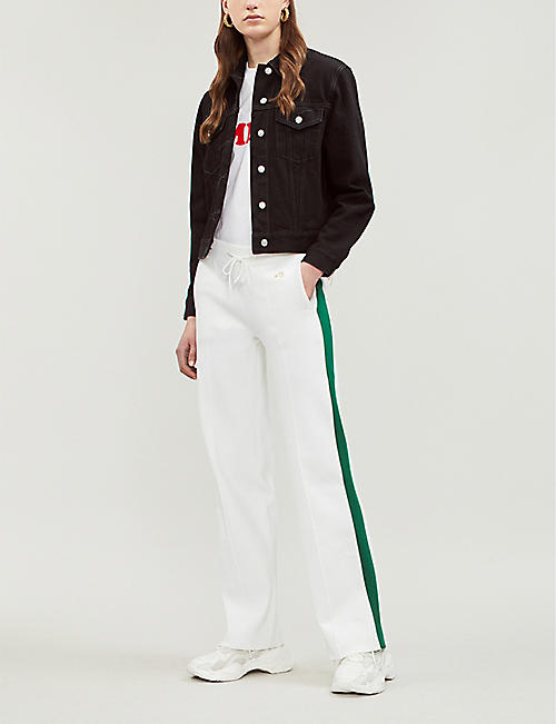 BELLA FREUD Missy contrast-trim jogging bottoms