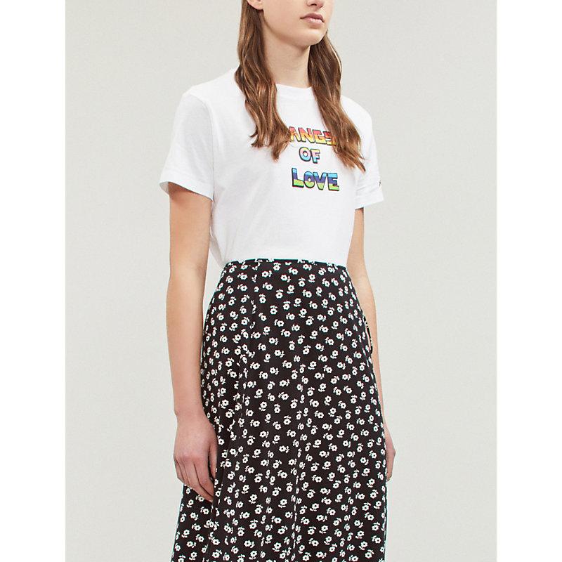 Bella Freud T-shirts SLOGAN-PRINT COTTON-JERSEY T-SHIRT