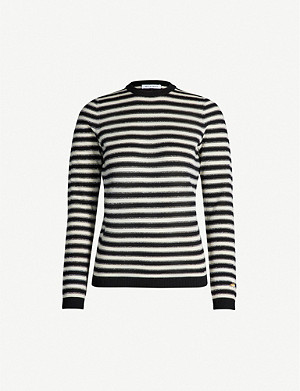 BELLA FREUD Striped wool-blend jumper