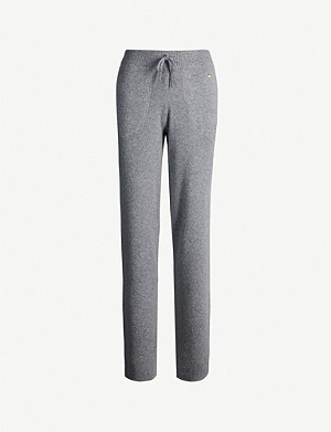 BELLA FREUD Side-stripe cashmere-blend jogging bottoms