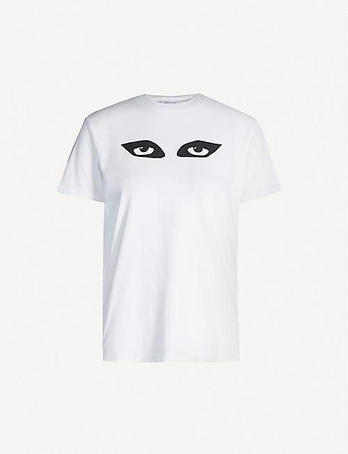 BELLA FREUD Jordan's Eyes graphic-print cotton-jersey T-shirt