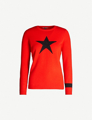 BELLA FREUD Star-intarsia wool-blend jumper