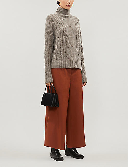 360 CASHMERE Alexia cable-knit wool-blend jumper