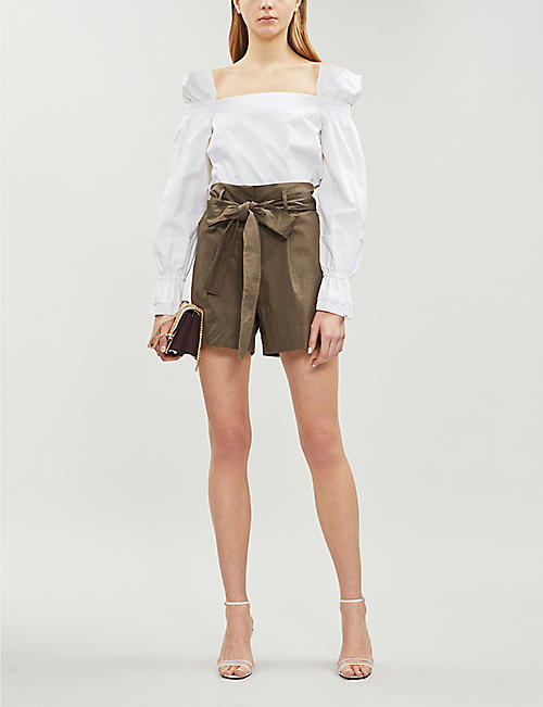 BLANCHE Ciola cotton-twill blouse