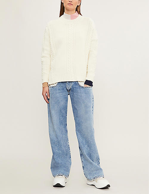 &DAUGHTER Slouchy-fit wool and cashmere-blend jumper