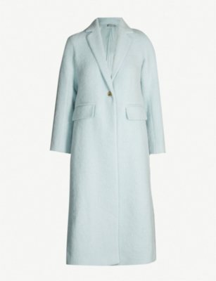 VINCE Longline single-breasted mohair coat