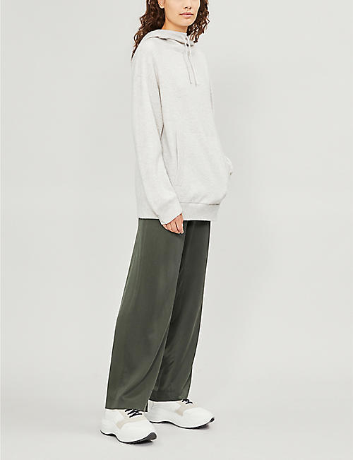 VINCE Double-layered cashmere and cotton hoody