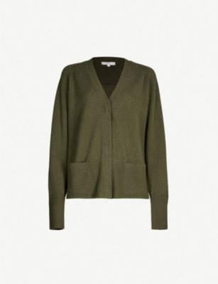 VINCE Relaxed-fit wool and cashmere-blend cardigan