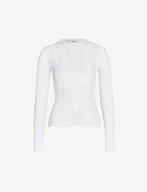 VINCE Ribbed cotton-knit jumper
