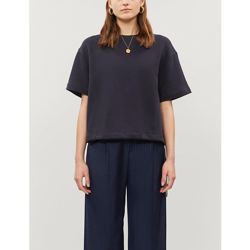 Vince T-shirts ROUND-NECK BOXY-FIT COTTON-JERSEY SWEATSHIRT