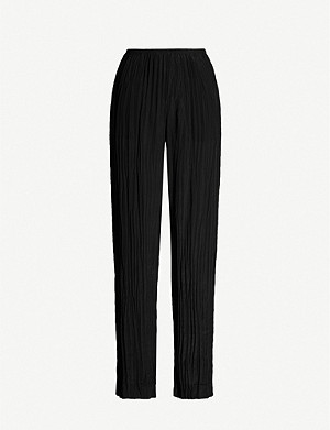 VINCE Pleated satin trousers