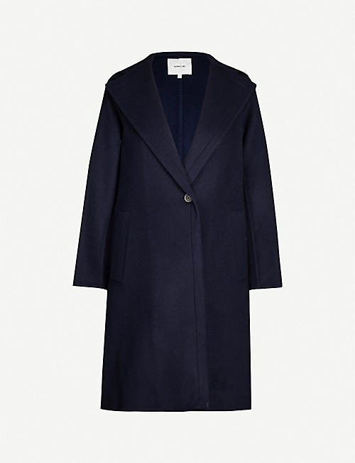 VINCE Hooded wool-blend coat