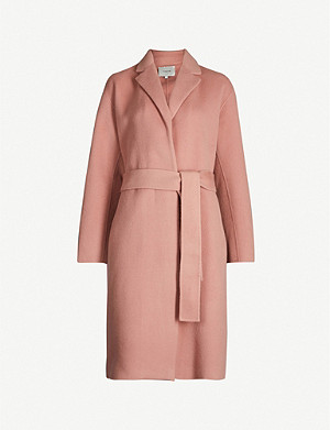 VINCE Tie-belt wool-blend coat