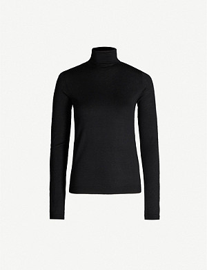 VINCE Turtleneck wool and silk-blend jumper
