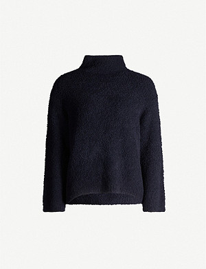 VINCE Turtleneck teddy jumper