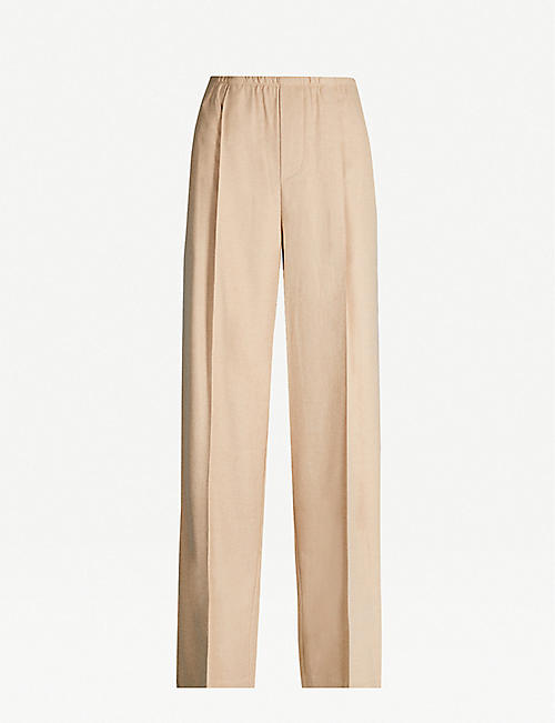 VINCE High-rise wide-leg woven trousers