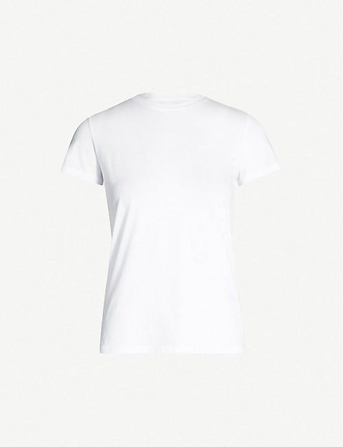 VINCE: Essential round-neck pima cotton T-shirt