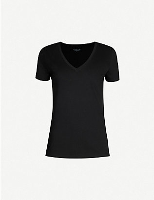 VINCE: V-neck cotton-jersey T-shirt