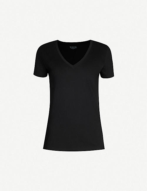 VINCE V-neck cotton-jersey T-shirt