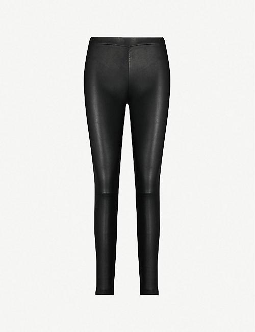 2e94bee5376a1e Leather - Trousers - Clothing - Womens - Selfridges | Shop Online