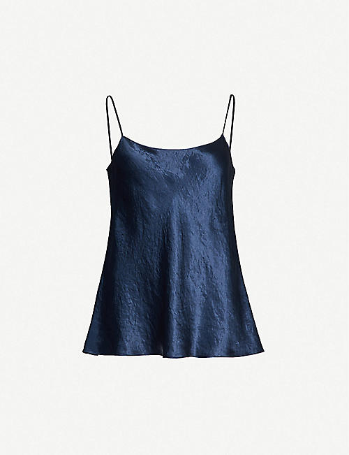 VINCE: Crushed-satin cami top