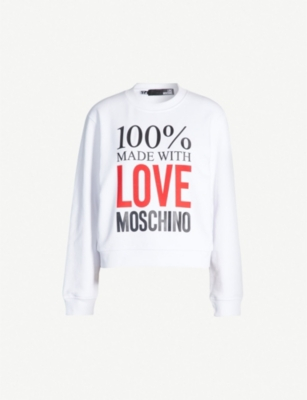LOVE MOSCHINO Made with Love cotton-jersey sweatshirt