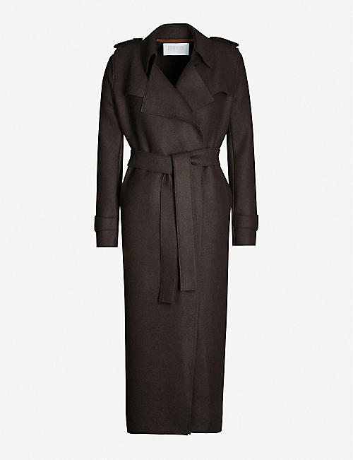 HARRIS WHARF LONDON Waterfall pressed-wool trench coat
