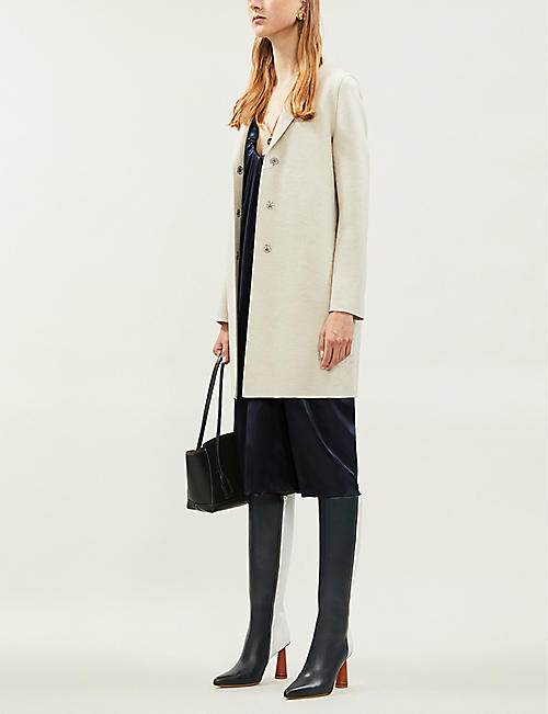 HARRIS WHARF LONDON Single-breasted wool cocoon coat