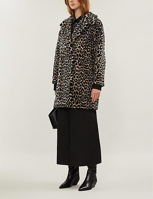 HARRIS WHARF LONDON Leopard-print wool-blend coat