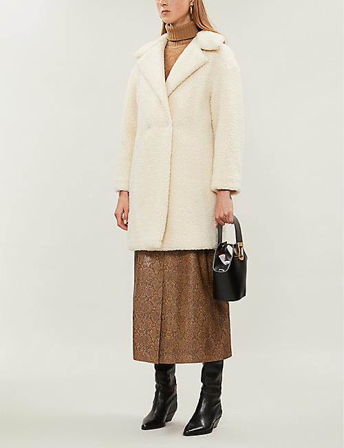 HARRIS WHARF LONDON Longline shearling coat