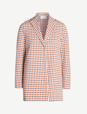 HARRIS WHARF LONDON Checked single-breasted woven jacket