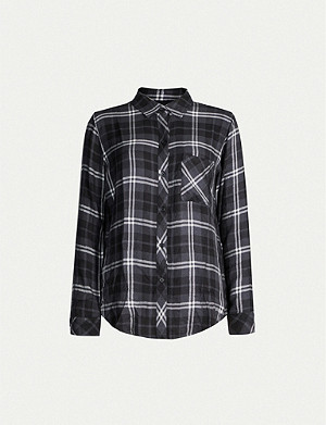 RAILS Hunter checked woven shirt
