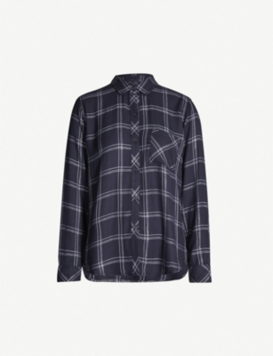 RAILS Hunter metallic checked flannel shirt