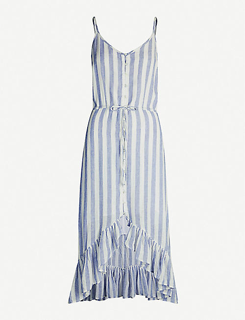 RAILS Frida striped linen-blend midi dress