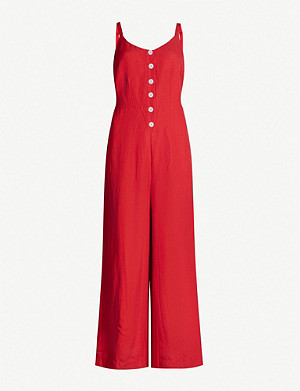 RAILS Teresa strappy linen and rayon-blend jumpsuit