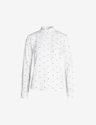 RAILS Rosci heart-pattern shirt