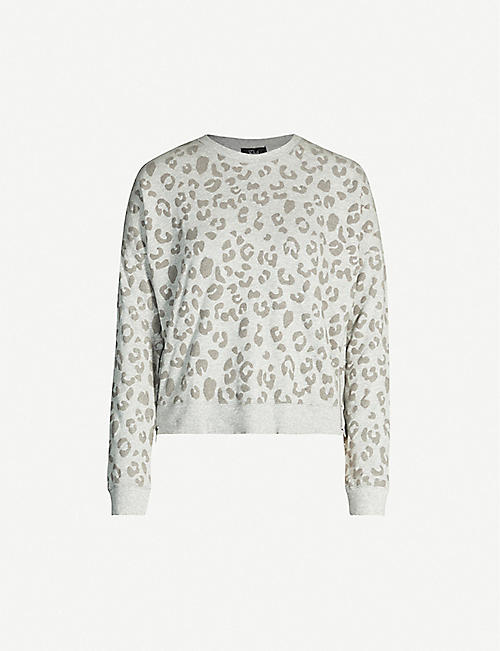 RAILS Marlo leopard-print cotton-blend jersey jumper