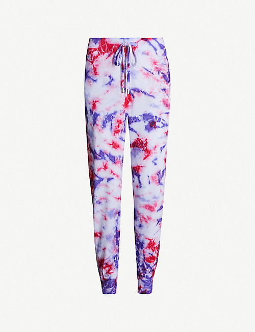ZOE JORDAN Connely tie-dye print wool and cashmere-blend jogging bottoms c59d433a3a