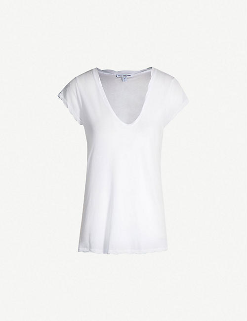 JAMES PERSE: V-neck cotton-jersey T-shirt