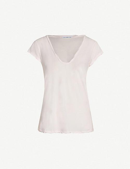 a0574bdbfbead JAMES PERSE V-neck cotton-jersey T-shirt