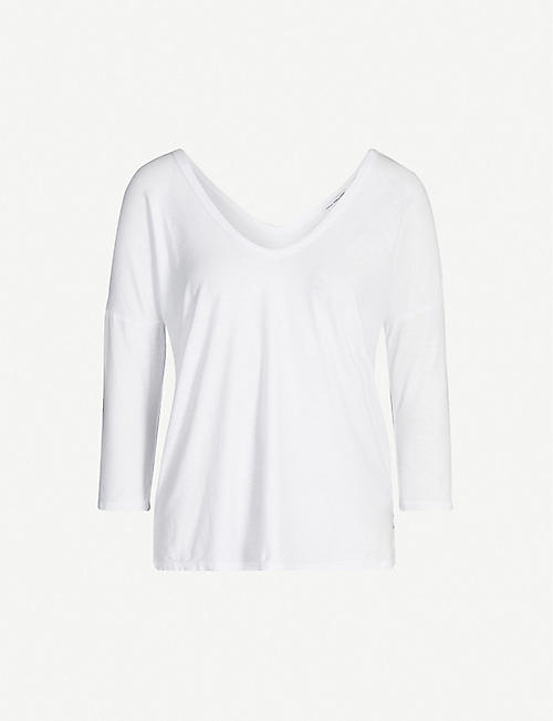 JAMES PERSE Scoop neck cotton-jersey T-shirt