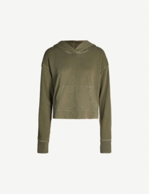JAMES PERSE Cropped cotton hoody